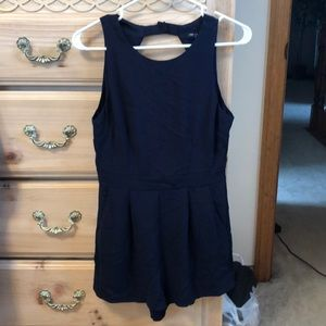 Other - Navy romper with keyhole back